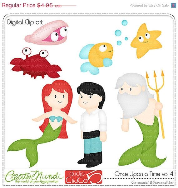 BLACK FRIDAY 50% OFF Once Upon a Time vol 4 - Digital Clip Art , Commercial Use Clipart, Scrapbook, Printable - Instant Download