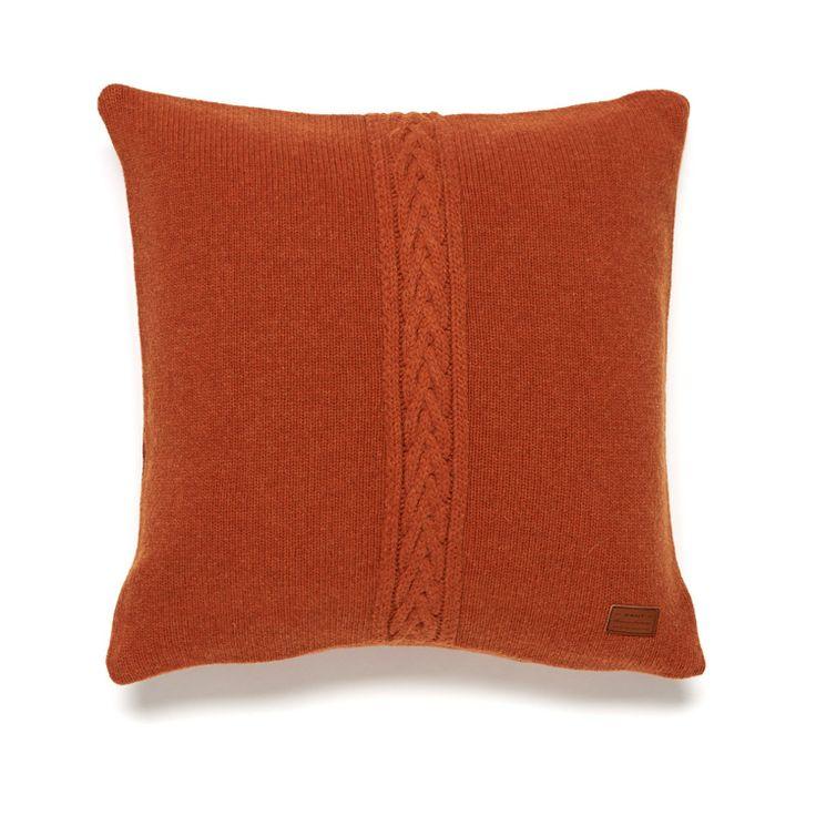 Gant Wool Cable Knit Kissenbezug 50 x 50 cm mocha latte