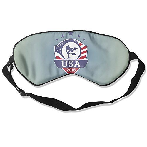 WLHZQS 2016 Rio Olympic Games United States Men's National Tennis Team With USA Flag Natural Silk Eye Mask (without Ice Bag)