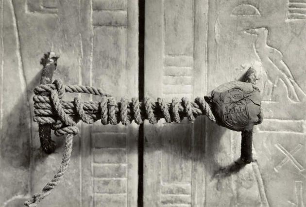 The unbroken seal on King Tut's tomb.
