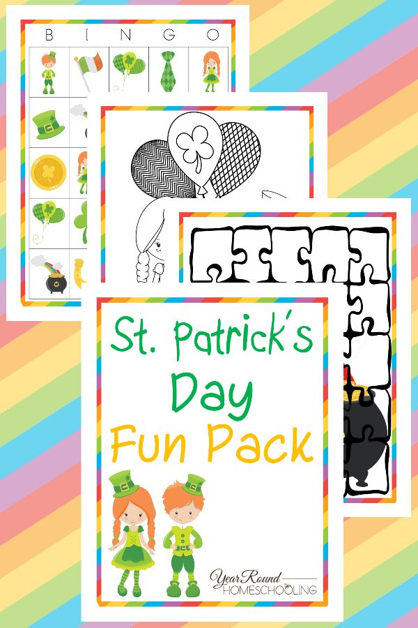 St. Patrick's Day Fun Pack - By Year Round Homeschooling