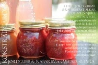 Recept Marmelad -Jordgubb och rabarbermarmelad