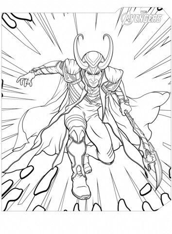 Pin Von Mina Maus Auf Loki Thor Coloring Pages Avengers