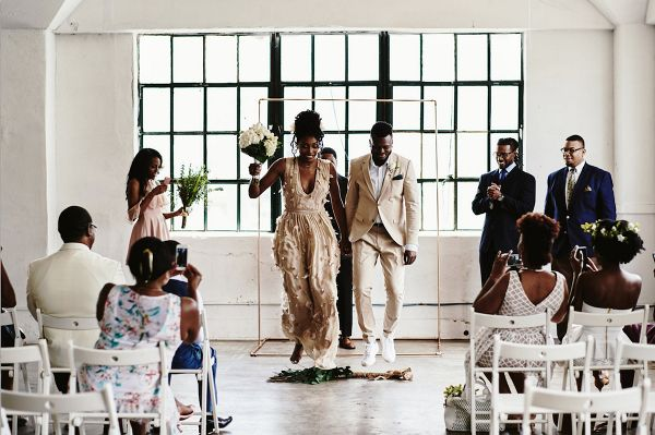 Jumping the broom  #wedding #weddings #aislesociety #engaged #weddinginspiration #weddingceremony #weddingtraditions