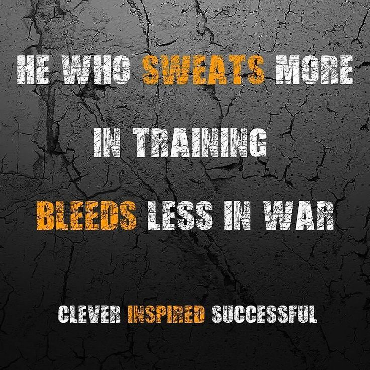 He who sweats more in #training bleeds less in #war  > > #clever #inspired #successful #cleverinspiredsuccessful #success #tips #attitude #entrepreneur #motivation #greatness #quality #pray #millionaire #entrepreneurs #entrepreneurship #money #luxury #goals #business #coach #businesswoman #mindset #ambition #hustle #businessman #rich #wealth #inspiration Get updates and special offers on Instagram http://ift.tt/1W9wMhj Twitter http://twitter.com/Clever_Inspire Like and share our official…