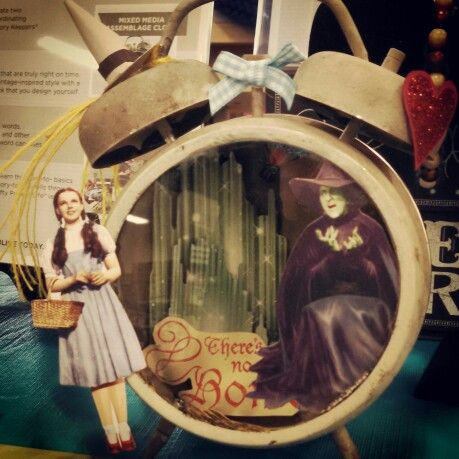Tim Holtz assemblage clock - Wizard of Oz