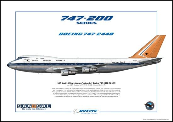 South African Airways B747-200
