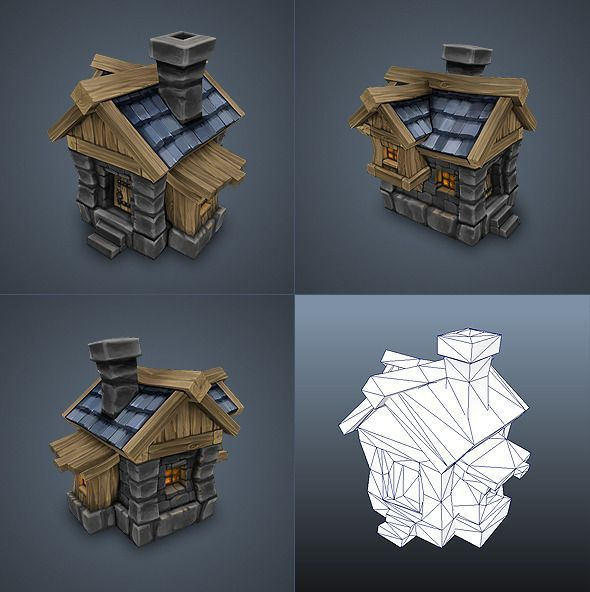 Human House Low Poly - 3DOcean Item for Sale