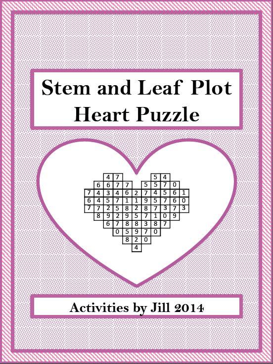 "The Best of Teacher Entrepreneurs: FREE MATH LESSON - ""Stem and Leaf Plot Heart Puzzle FREEBIE"""