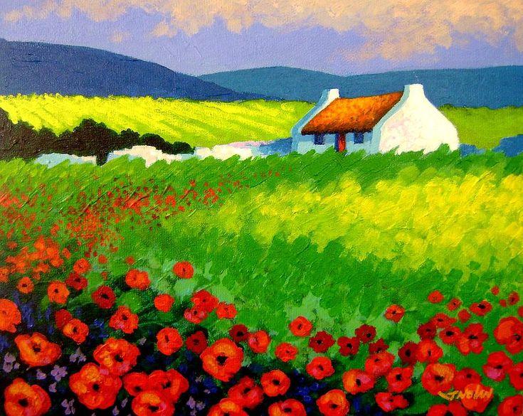 Poppy Field - Ireland Painting - Poppy Field - Ireland Fine Art Print
