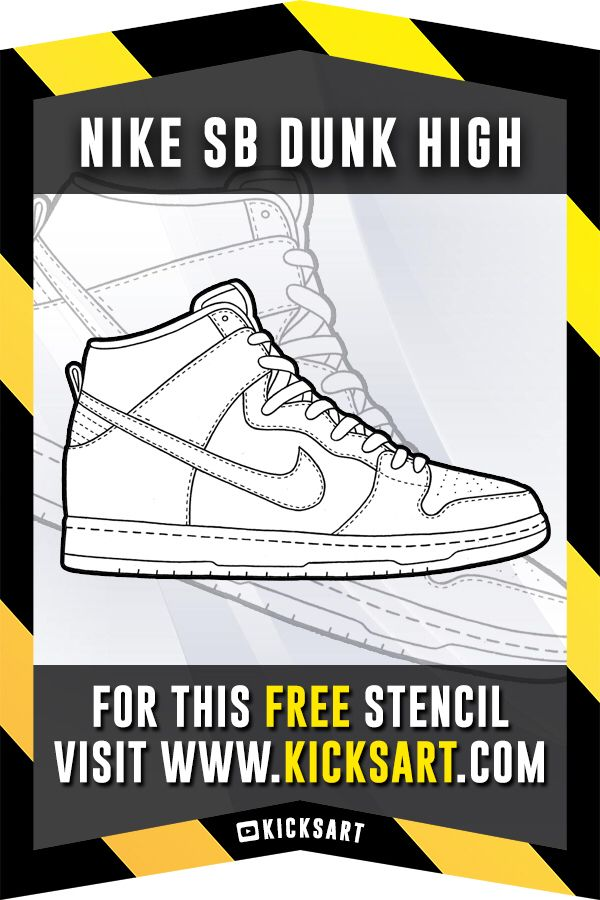 sports shoes 78165 74440 This is a FREE StencilTemplate of the Nike SB Dunk High available over at  KicksArt.com