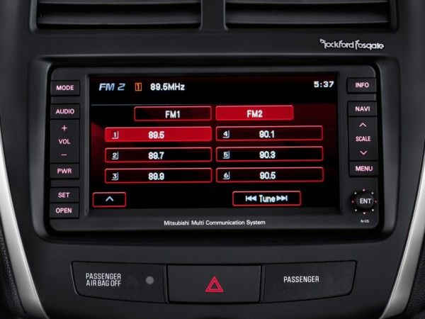 2014 Mitsubishi Outlander Sport Audio System 600x450 2014 Mitsubishi Outlander Sport Review Details and Quality