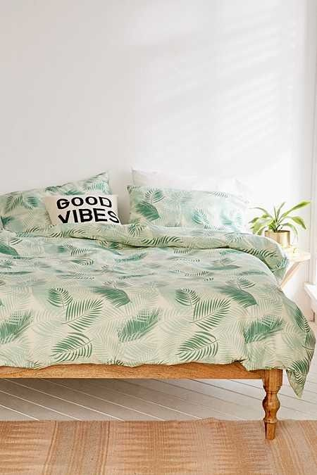 Lili Palm Duvet Cover Set   Home & Gifts   Bedding   Duvet Covers & Pillowcases   New In   Urban Outfitters #UOonYou#UrbanOutfitters #UOEurope