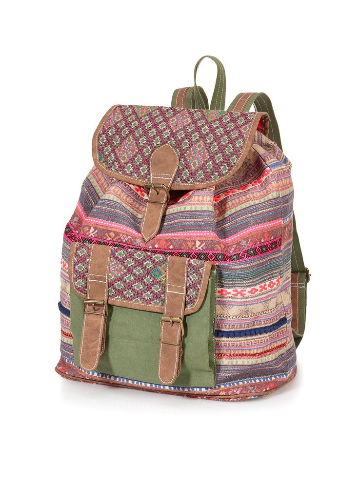 Bekijk nu:Deze rugzak is het perfecte alternatief voor een handtas en een shopper. Het geweven accessoire is levendig gekleurd en biedt veel opbergruimte aan de binnenkant en ook aan de buitenkant. De verstelbare schouderriemen worden aangevuld door een stabiel hengsel.