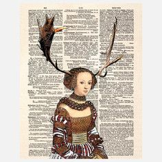 Antler Girl Canvas, $39, now featured on Fab.
