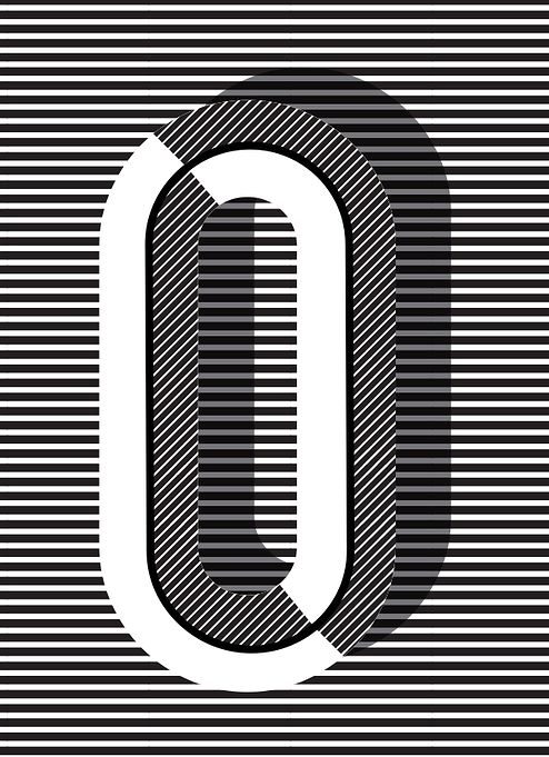 "O #typography print in ""Copenhagen"" style, more letters + styles available // Pawaiian Hunch, @Ruth Vissing"