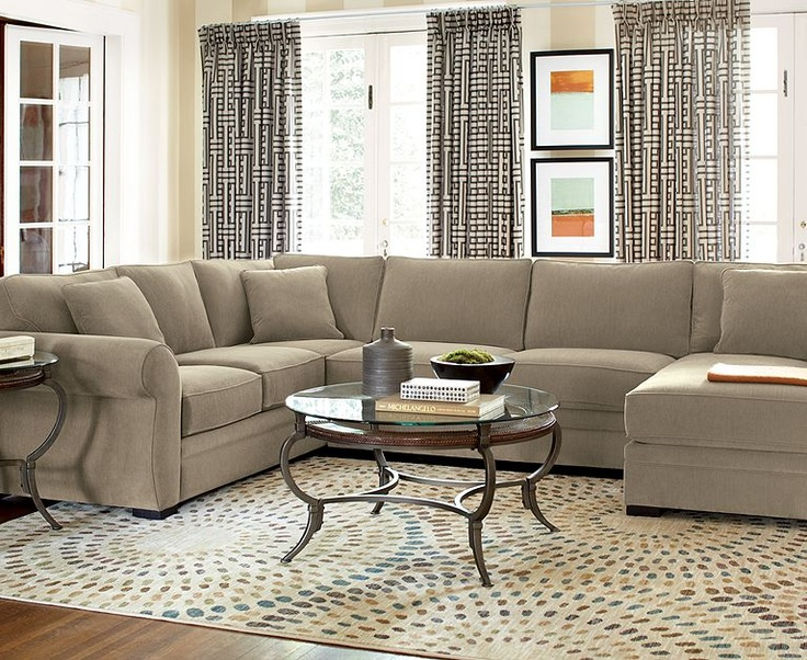 Devon Fabric Sectional Living Room Furniture Collection