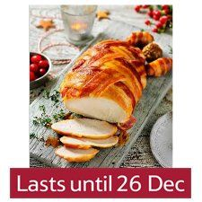 Tesco Irish Breast on the Bone Turkey with Bacon Lattice 3KG (6 - 8 people) - Groceries - Tesco Groceries