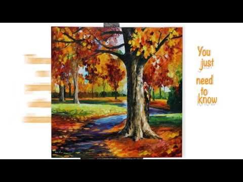Sample video lesson from Leonid Afremov for his palette knife style with commentaries in Russian - YouTube