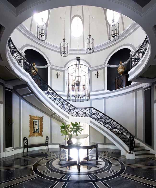 33 Staircase Designs Enriching Modern Interiors With: Such Dramatic Staircase And Entryway