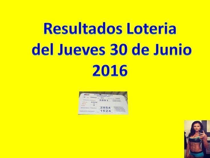 Resultados Sorteo Jueves 30 de Junio 2016 Loteria Nacional de Panama