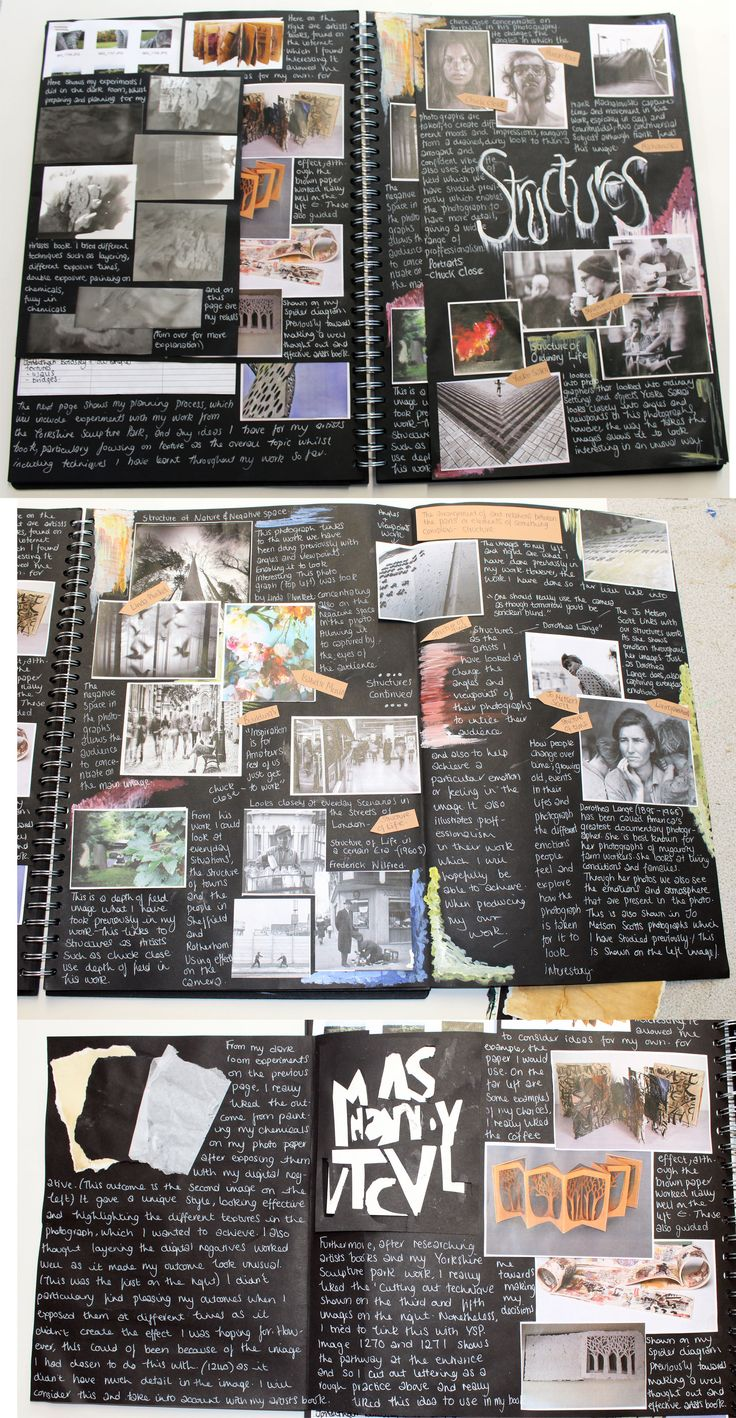 AS Photography, A3 Black Sketchbook, Structures Brainstorm, ESA Theme Relationships, Thomas Rotherham College, 2014-15