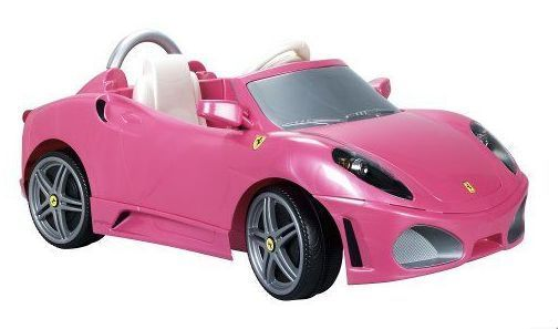 Electric Toy Cars For Girls : Ride on electric toy girls ferrari f pink
