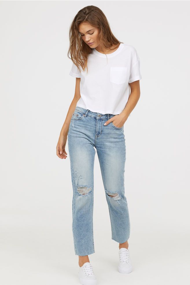 618abaac0c73c Girlfriend Regular Jeans in 2019 | Fashion & Style | Jeans, Mom ...