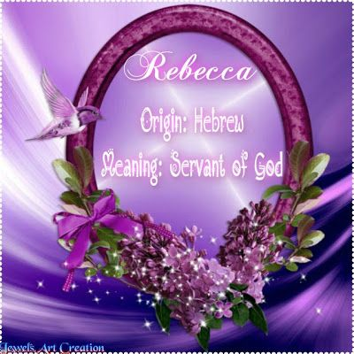 Name Meanings | REBECCA