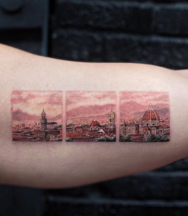 Do this but the skyline of Minneapolis!!  50 Best Tattoos from Amazing Tattoo Artist Eva Krbdk - Doozy List