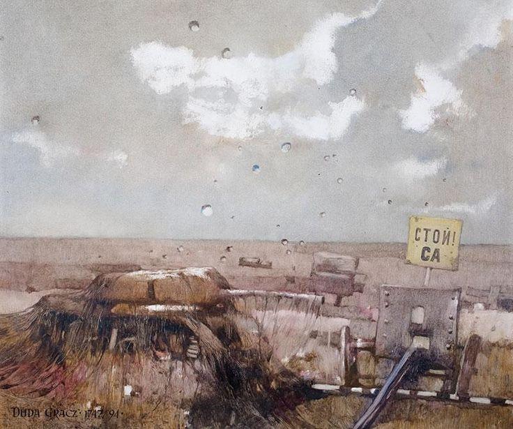 Jerzy Duda - Gracz - Obraz 1747 (Andenken von Lagov-VI), 1994 r. olej, płyta, 60 × 70 cm sygn. l.d.: DUDA-GRACZ.1747/94