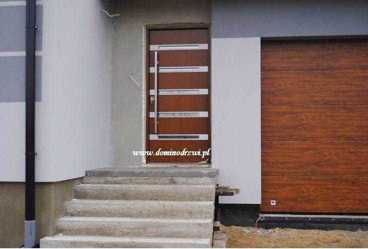 Drzwi zewnętrzne - realizacja. Model - Techno Inox