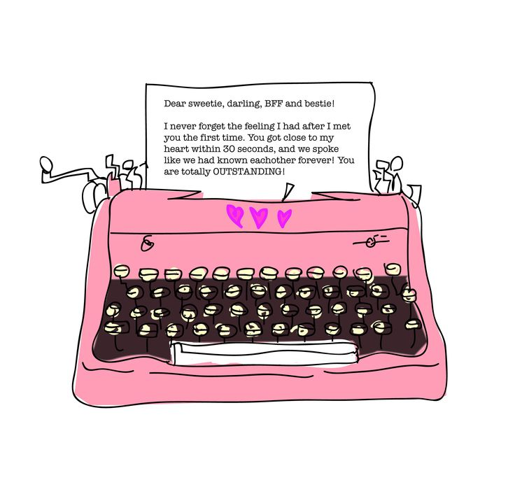 A letter to your bff! illustrated by Pia Haugseth