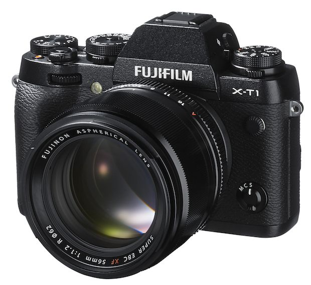 Fuji X-T1: Weather-Resistant with fast autofocus and an APS-C sensor and lots of knobs for fiddling. Looks just amazing!