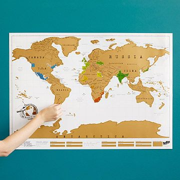 Look what I found at UncommonGoods: Scratch Map for $26.00