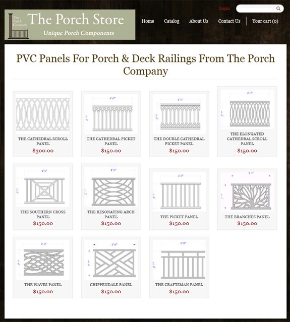 The Southern Cross panel would look fab on our porch.  Porch Company porch railing store