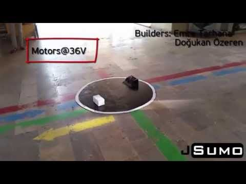 "YouTube: ""New Senju Fast Sumo Robot Tests"" https://www.youtube.com/watch?v=RbA1rMRJNl0&feature=youtu.be"
