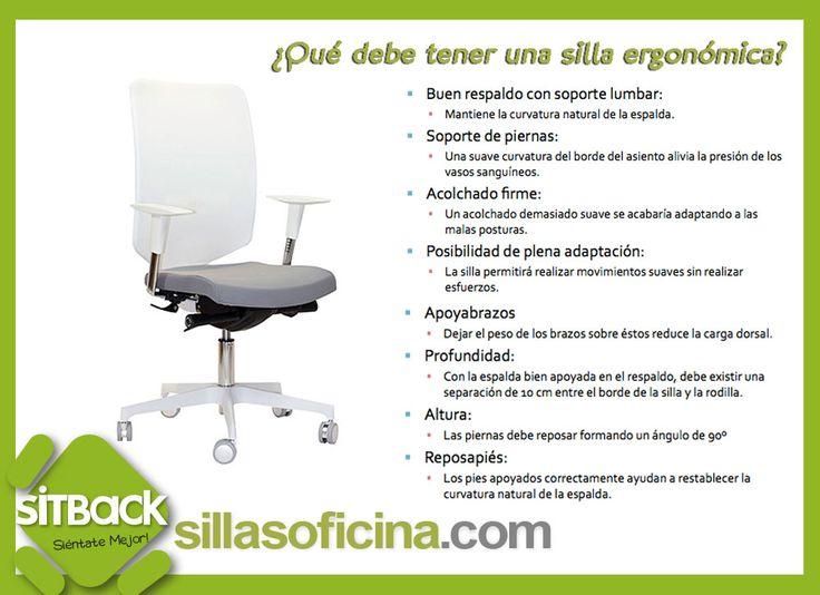 qu condiciones debe cumplir una silla de oficina para que cuide de tu salud
