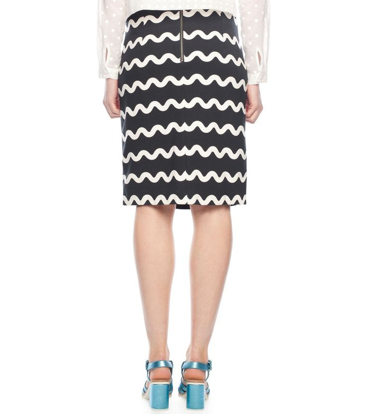 The Waves Pencil Skirt