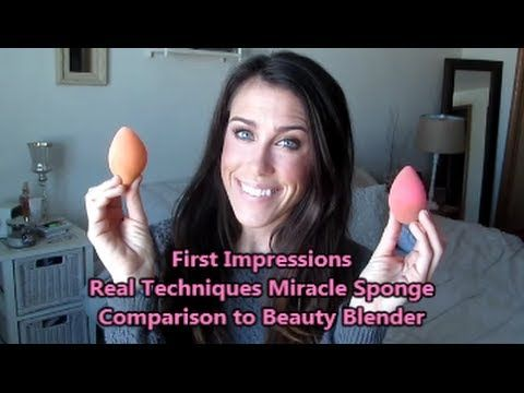 First Impressions: Real Techniques Miracle Sponge vs Beauty Blender