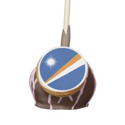 #Marshall Islands Flag Cake Pops - #Chocolates #Treats #chocolate