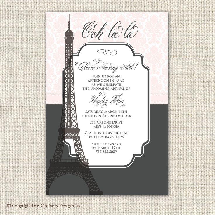 29 best paris baby shower images on pinterest paris baby shower paris birthday parties and - Salon des seniors paris invitation ...