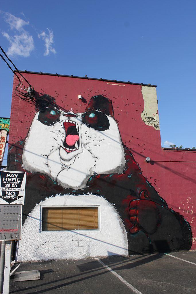 Panda Street Art Mural by Hawaiian street artist Aaron Martin