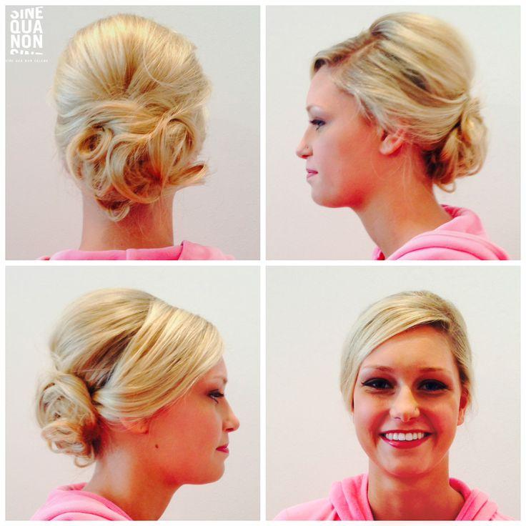 Hair by Kathy at Sine Qua Non Salons.  #cute #hair #hairstyle #sinequanon #bumbleandbumble #randco #style #chicago #hairchicago #chicagohairsalon #adorable #updo #bridalhair #beautifulhair #bunupdo #beauty