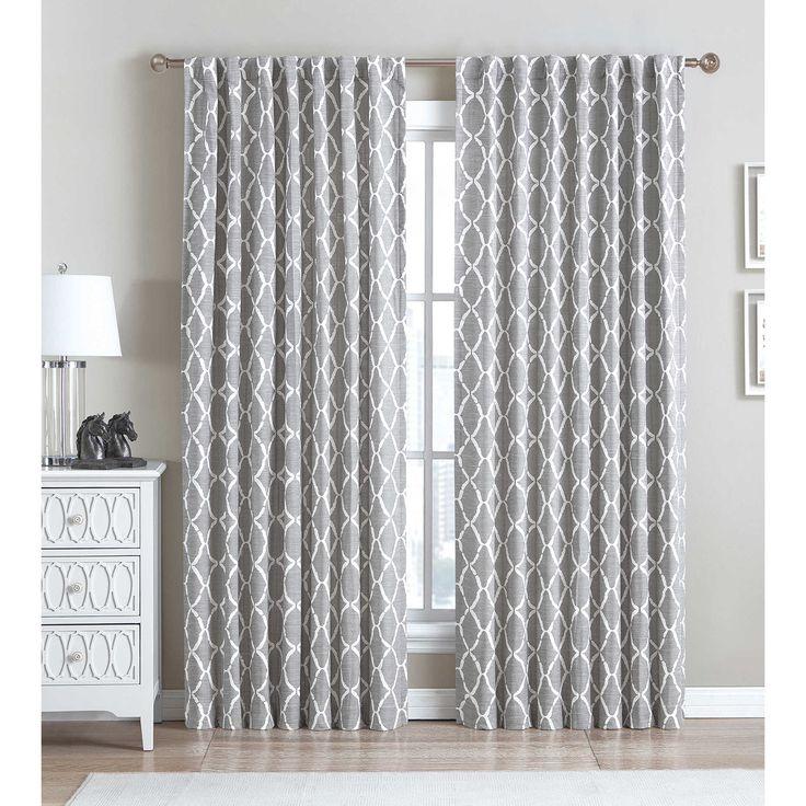 99 108 inch be artistic ellis oval 63inch rod pocketback tab window - 63 Inch Curtains