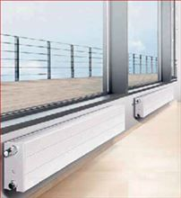 Myson RCV21-600 Steel Panel Radiator. Myson Hydronic Baseboard Heater RCV21 600 that replaces traditional baseboard heaters installed in a room