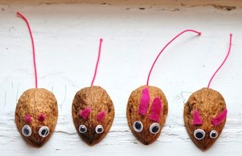 Walnut or almond mouse - my family has one of these we set out at Christmas