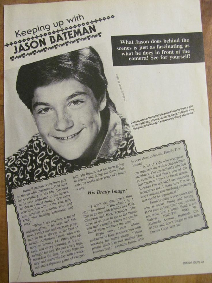 Jason Bateman, Full Page Vintage Clipping, John Stamos