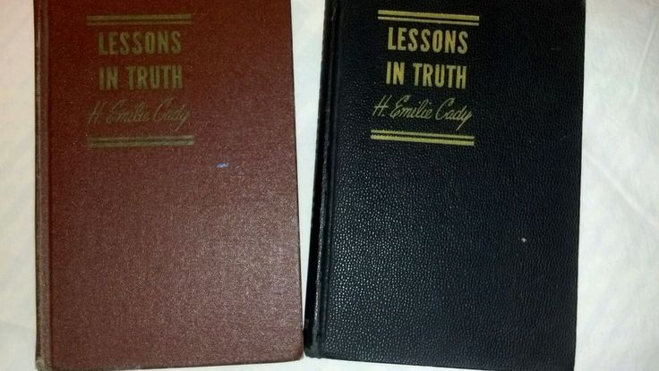 Vtg2 Book Lessons In Truth-H.Emilie Cady-Unity School Of Christianity-hardcovers