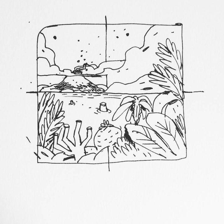 Inktober no4 - a volcanic island #volcano #island #tropicalisland  #inktober #inktover2016 #inked  ___ #illustration #art #artist #instaart #dailyart #artoftheday #doodleartist #pen #pencil #drawing #drawings #sketch #scribble #picoftheday #sketchbook #doodle #kunst #dessin #dibujo #newartwork #instadaily